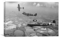 303 Squadron Spitfire sweep, Canvas Print