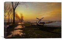 Spitfire in winter, Canvas Print