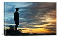 Black Watch Memorial, Dundee, Canvas Print