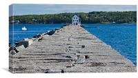Rockland Breakwater Lighthouse, Main, US, Canvas Print