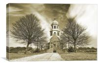 Victorian chapel and trees, Canvas Print