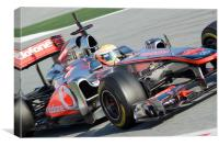 Lewis Hamilton - McLaren F1  MP4-26, Canvas Print