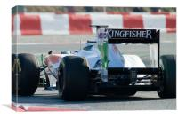 Adrian Sutil Force India, Canvas Print