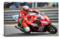 Barry Burrell - Buildbase Kawasaki - Brands Hatch, Canvas Print