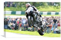 Josh Brookes - Take Off at Cadwell park 2011, Canvas Print