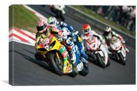 Tommy Hill Leading the pack 2011, Canvas Print