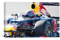 Mark Webber - Redbull 2012 - Spain, Canvas Print