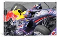 Mark Webber 2013 RedBull, Canvas Print