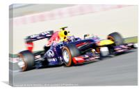 Mark Webber - RedBull 2013, Canvas Print