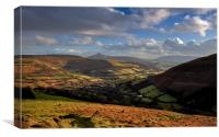 Sugar Loaf and the Black Mountains, Canvas Print