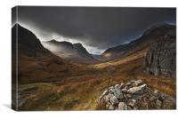Three Sisters Glencoe, Canvas Print
