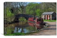 Brecon Canal in spring, Canvas Print