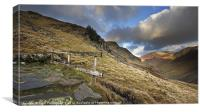 Fence at Honister Pass, Canvas Print