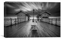 Penarth Pier in monochrome, Canvas Print