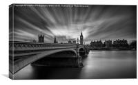Westminster Bridge and Big Ben, Canvas Print