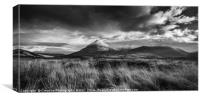 The Red Cuillins, Canvas Print