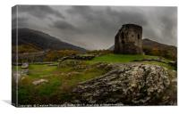 Llanberis Castle, Snowdonia National Park, Canvas Print