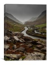 Llanberis Pass, Snowdonia National Park, Canvas Print