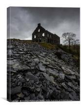 Ynyspandy Slate Mill, Snowdonia National Park, Canvas Print