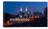 Battersea Power Station on the Thames, London, Canvas Print