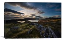 Landscape View over Loch Fada from Storr on Isle o, Canvas Print