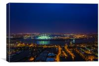 East London By Night, Canvas Print
