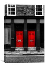 Two Red Doors, Canvas Print