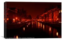 Canals of the Night, Canvas Print
