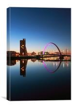 Glasgow Clyde arc reflection, Canvas Print