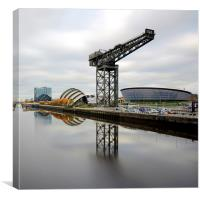 Clyde waterfront, Canvas Print