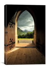 Through the arched door, Canvas Print