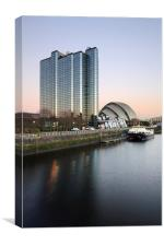 River Clyde Sunset, Canvas Print