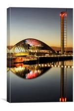 The Glasgow Science Centre , Canvas Print