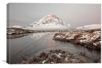 Etive Mountain Sunrise, Canvas Print