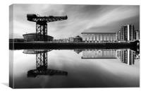 Clyde Waterfront Mono, Canvas Print