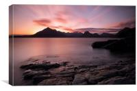 Elgol Colourful Sunset, Canvas Print