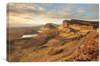Quiraing morning light, Canvas Print
