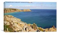 View over the Minack Theatre in Cornwall, Canvas Print