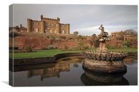 Culzean Castle, Stables and Fountain, Canvas Print