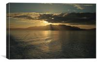 Isle of Arran at Sunset, Canvas Print