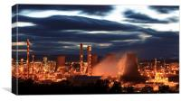 Grangemouth Refinery at Night, Canvas Print