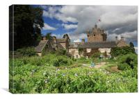 Cawdor Castle and Garden, Canvas Print