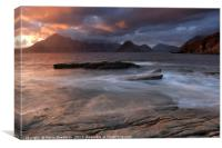 Overcast Cuillins at Sunset, Canvas Print
