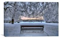Snow, Highgate Wood, Canvas Print