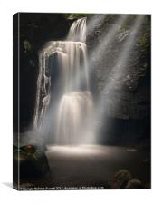 Lumsdale Valley Waterfall - Love, Canvas Print