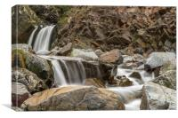 Speaks Mill Mouth Waterfall, Canvas Print