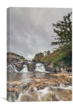 Waterfall on the River Lyd, Canvas Print