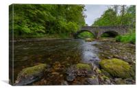 A bridge over the river Brathay, Canvas Print