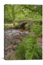 Hisley Bridge, Dartmoor., Canvas Print
