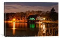 The Lakeside by night, Canvas Print